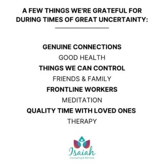 """Science tells us that grateful people are typically happier people. Being grateful makes us more optimistic and reduces negativity...even amidst a time of chaos and uncertainty.  Everyone has that friend we jokingly call """"Negative Nancy"""". Don't be that friend!  Make acts of gratitude a part of your daily routine, and you'll notice a shift in your outlook and your overall mood."""