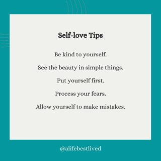 Self Love Tips: You deserved to be loved by not only those around you but by the most important person - YOU.  Practicing self love isn't selfish or narcissistic, it is about getting in touch with yourself, your wellbeing and your happiness!  #selflove #loveyourself #mentalhealthmatters