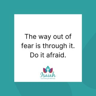 Fear is a natural emotion. Avoiding the thing that we're afraid of only keeps us bound to that fear.  Sit with it. Breathe. Do it afraid.